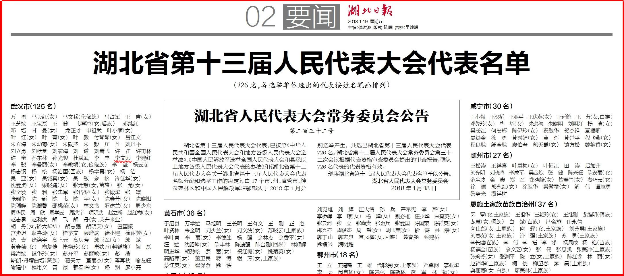 湖北日报--李部省人大公示20180119-第2版副本.jpg